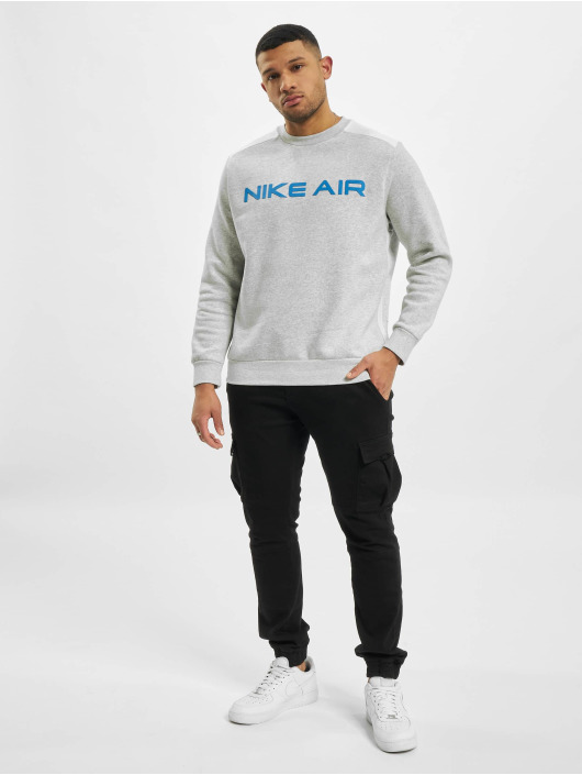 Nike Svetry M Nsw Air Flc Crew šedá