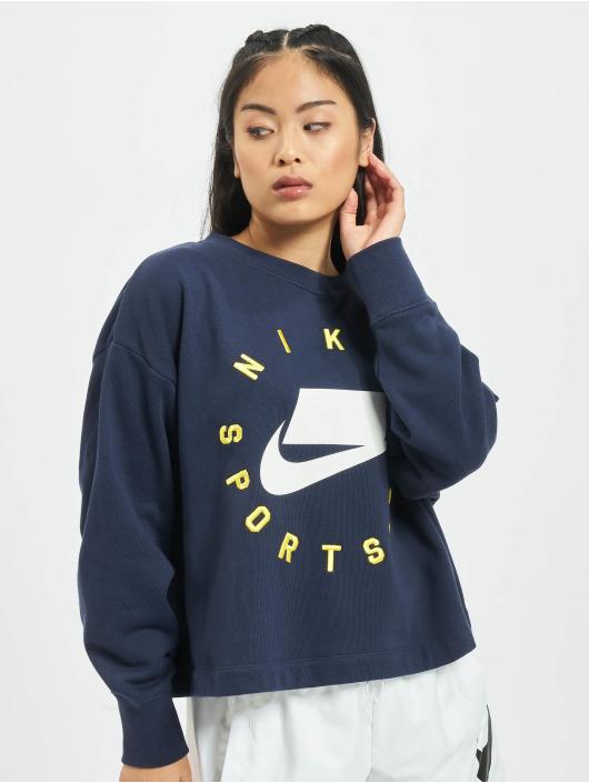 Nike Svetry Crewneck modrý