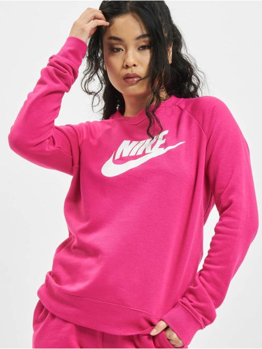 Nike Svetry W Nsw Essntl Flc Gx růžový