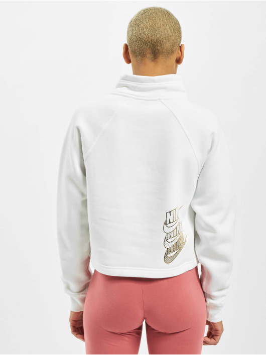 Nike Sweat & Pull Funnel 1/2 Zip BB Shine blanc