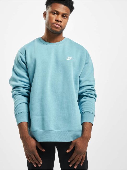 Nike Club Crew BB Sweatshirt CeruleanWhite