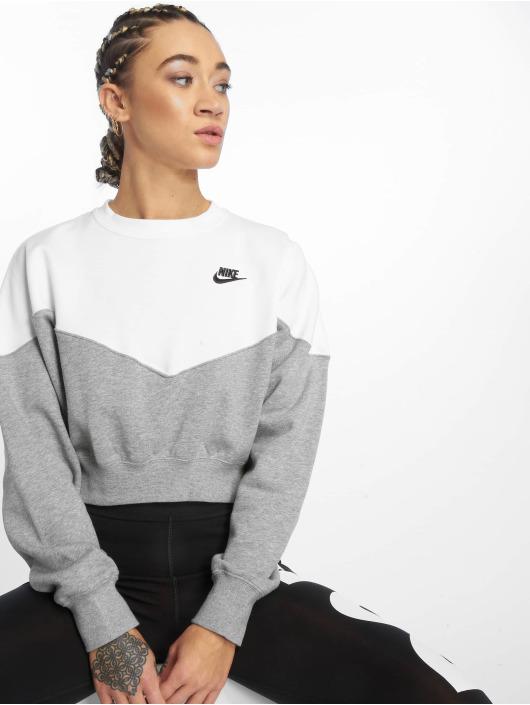 check out 474e3 047b1 Nike Sportswear Sweatshirt Dk Grey Heather/White/Black