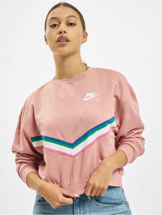 Nike Sweat & Pull Heritage Crew Fleece rose