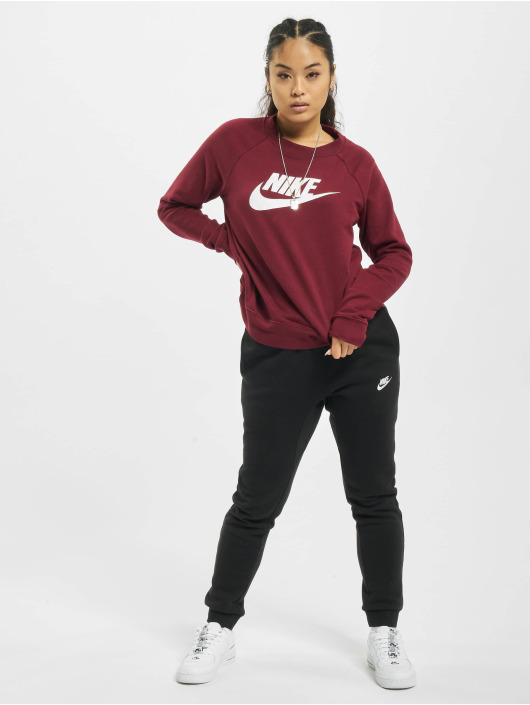 Nike Sweat & Pull Essential Crew Fleece HBR rouge
