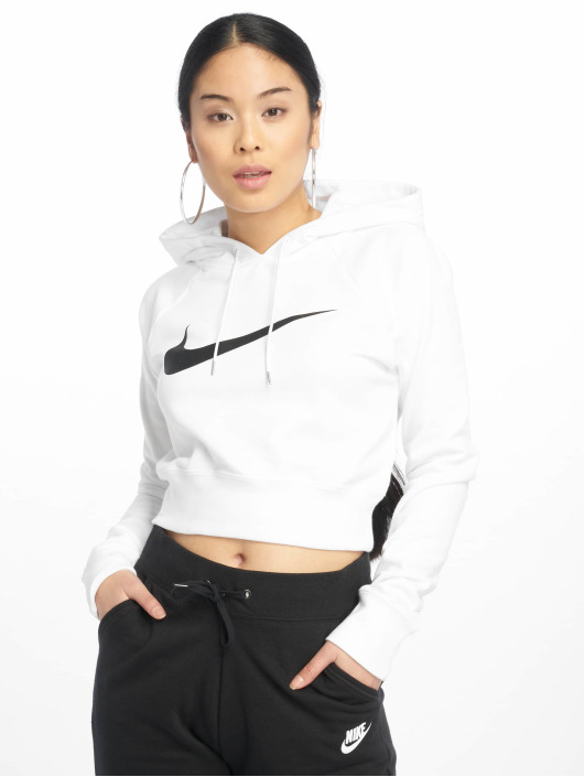 Nike Sweat capuche Swoosh Cropped blanc