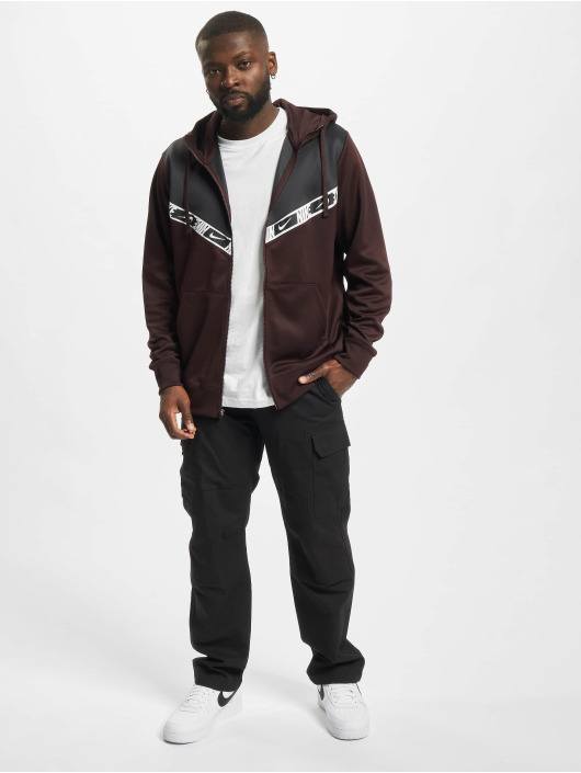 Nike Sweat capuche zippé Repeat PK brun