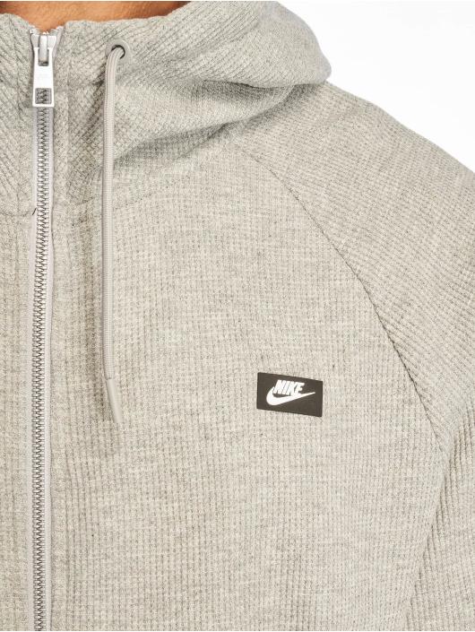 Nike Sweat capuche zippé Me Hoodie FZ Waffle gris
