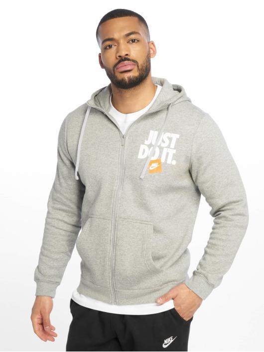 Nike Sweat capuche zippé JDI FZ Fleece gris