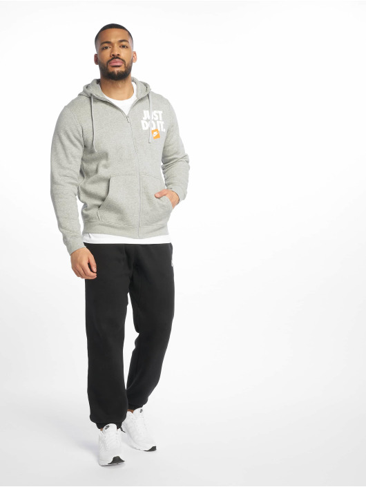 Nike Sweat capuche zippé JDI FZ Fleece gris