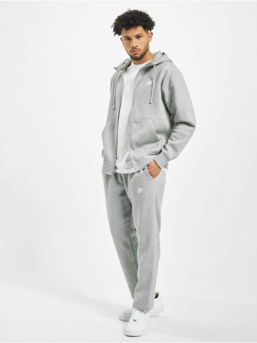Nike Sweat capuche zippé Club Hoodie Full gris