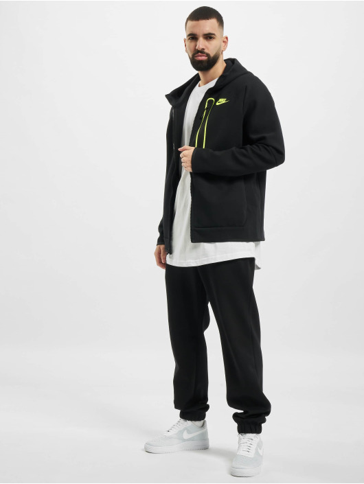 Nike Sweat capuche zippé M Nsw Tch Flc Fz Am noir