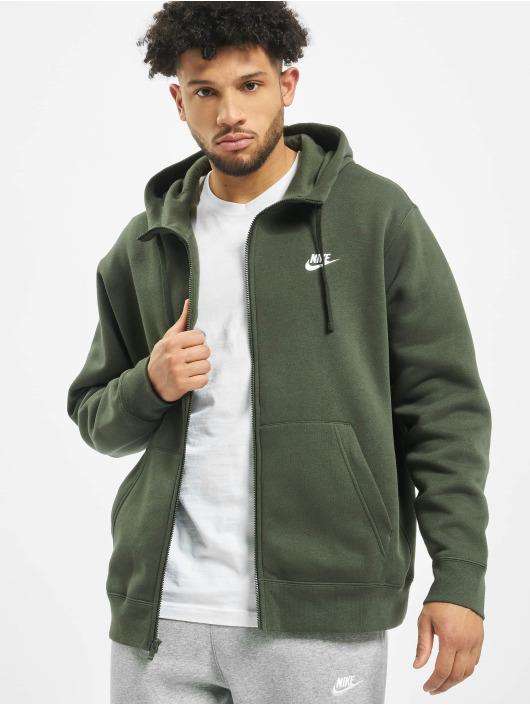 Nike Club Hoodie Full Zip SequoiaSequoiaWhite