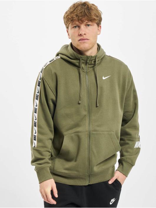 Nike Sweatvest Repeat Flecce Full Zip olijfgroen