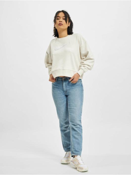 Nike Swetry W Nk Dry Get Fit Crew Swsh bezowy