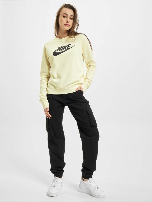 Nike Swetry W Nsw Essntl Flc Gx Crew bezowy