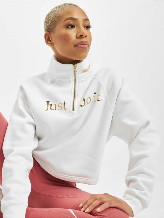 Nike Swetry Funnel 1/2 Zip BB Shine bialy