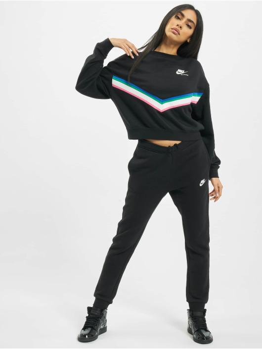 Nike Swetry Heritage Crew Fleece czarny