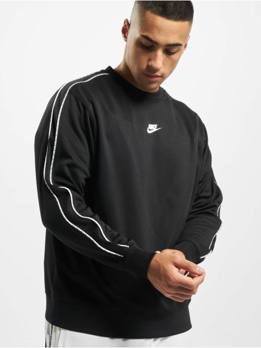 Nike Swetry Repeat PK Crew czarny
