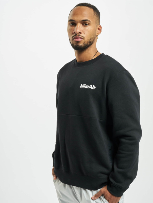 Nike Swetry Air Crew Fleece czarny