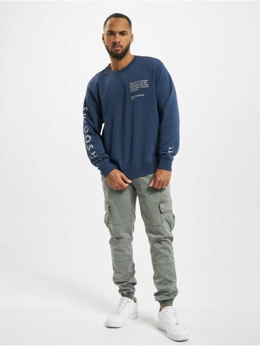 Nike Swetry Swoosh Crew niebieski