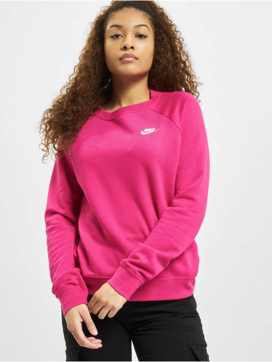 Nike Swetry W Nsw Essntl Flc pink
