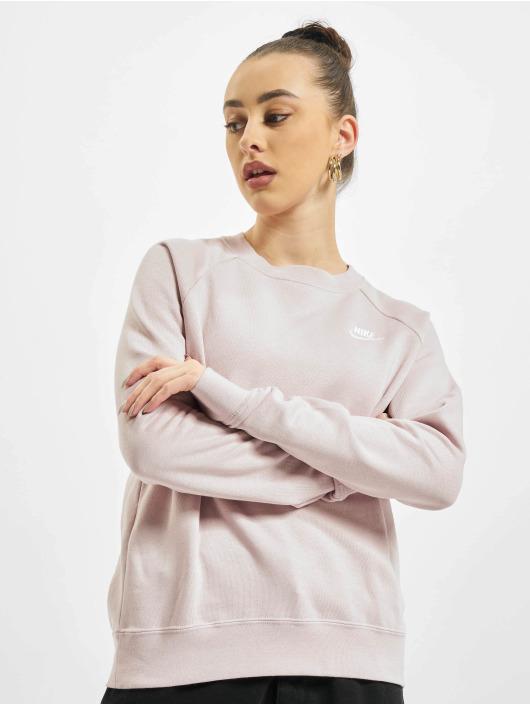 Nike Swetry W Nsw Essntl Flc rózowy