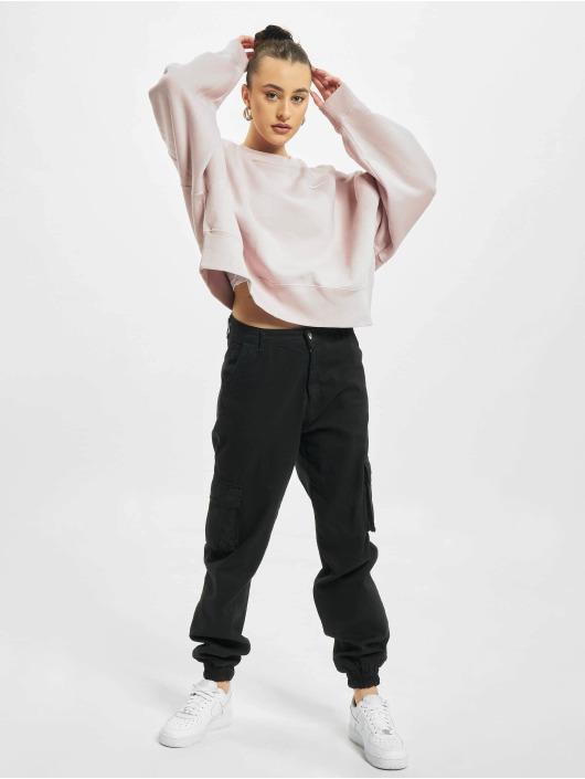 Nike Swetry W Nsw Crew Flc Trendc rózowy
