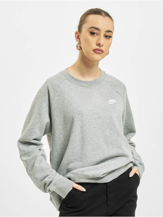 Nike Swetry Essential Crew Fleece szary