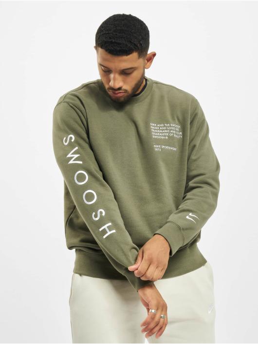 Nike Swetry Swoosh Crew SBB zielony