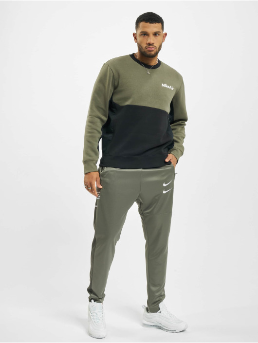 Nike Swetry Air Crew Fleece zielony