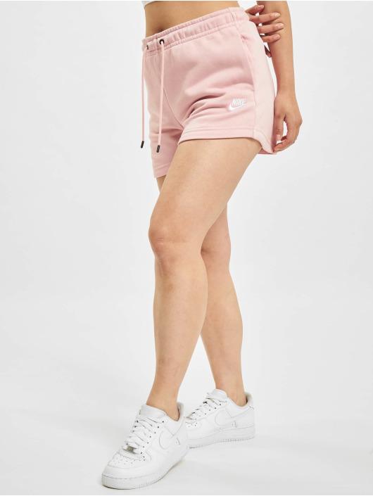Nike Szorty W Nsw Essntl Flc Hr Ft rózowy
