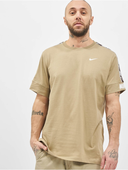 Nike T-paidat M Nsw Repeat Ss khakiruskea