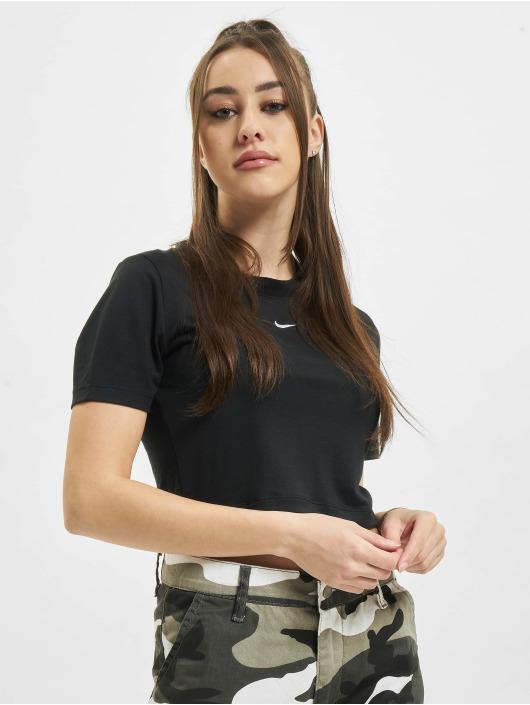 Nike T-paidat W Nsw Essntl Slim Crp Lbr musta
