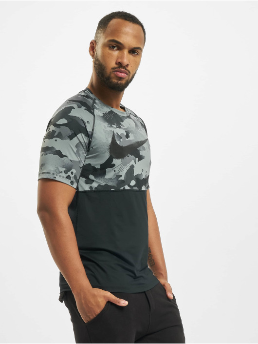 Nike T-Shirt SS Slim Camo black