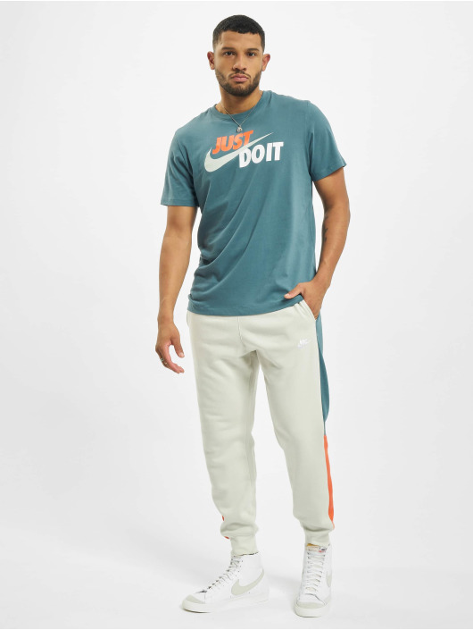 Nike T-Shirt Just Do It Swoosh blau