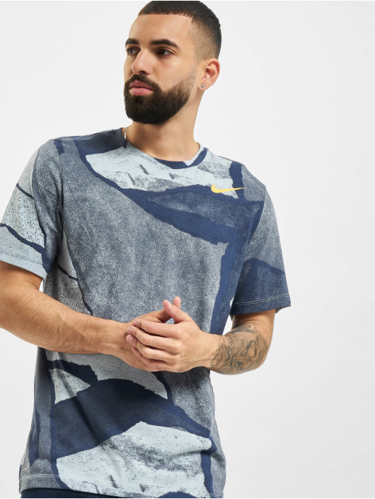 Nike T-Shirt Dri-Fit Seasonal All Over Print blau