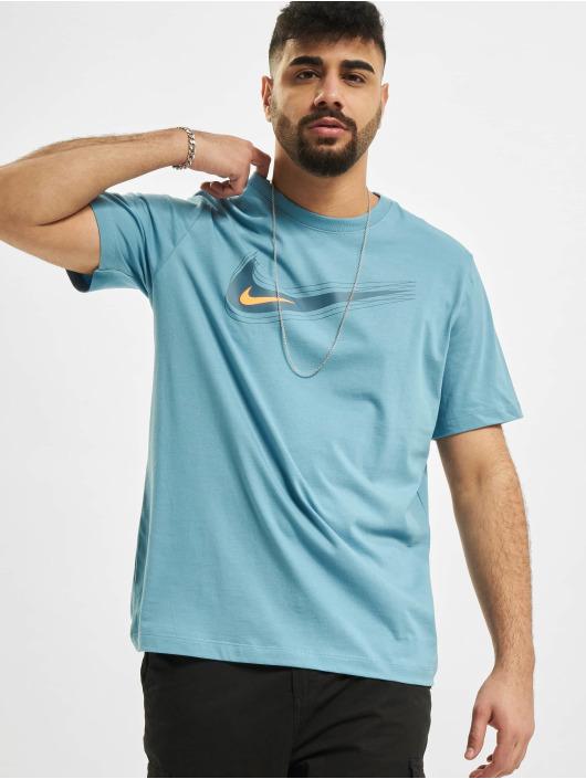 Nike T-Shirt M Nsw Swoosh 12 Month blau