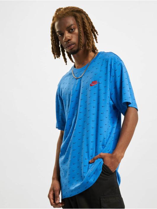 Nike T-Shirt Mini Swoosh blau
