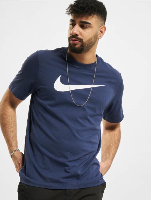 Nike t-shirt Swoosh blauw