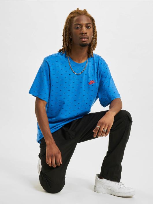 Nike T-Shirt Mini Swoosh bleu