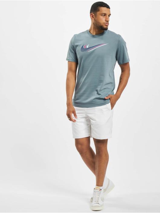 Nike T-Shirt Swoosh blue