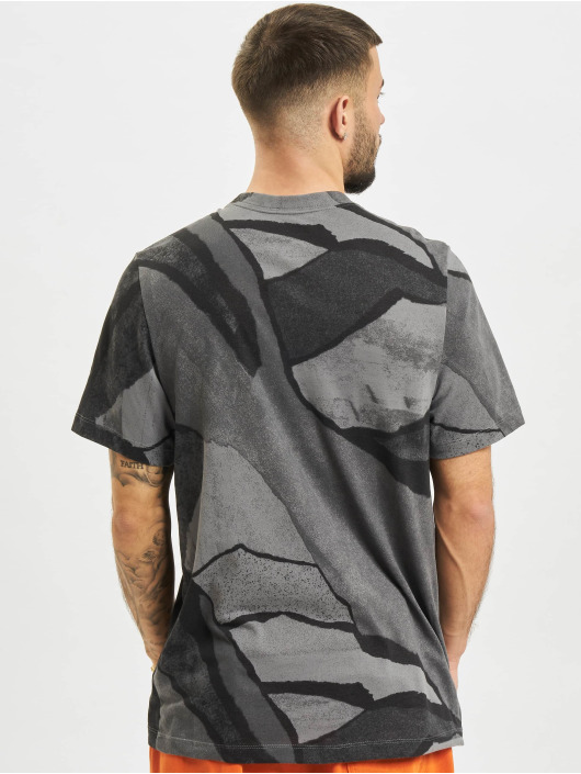 Nike T-Shirt Dri-Fit Seasonal All Over Print grau