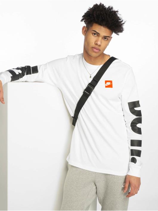 Homme Nike Shirt T Sportswear Blanc 587365 Longues Manches E4wq14r