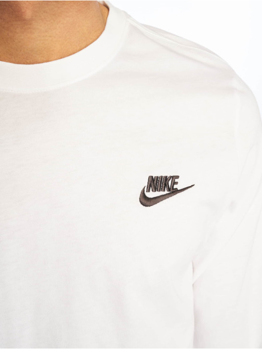 Nike Club Blanc T Manches 667609 Homme Ls Longues shirt nPO80wk