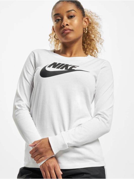 Nike T-Shirt manches longues Essntl Icon blanc