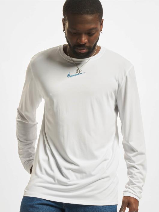 Nike T-Shirt manches longues Dri-Fit blanc