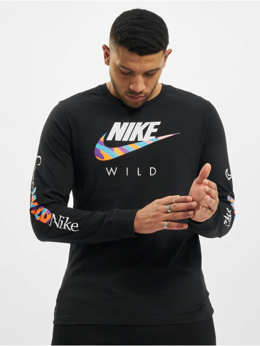 Nike T-Shirt manches longues M Nsw Wild Futura noir