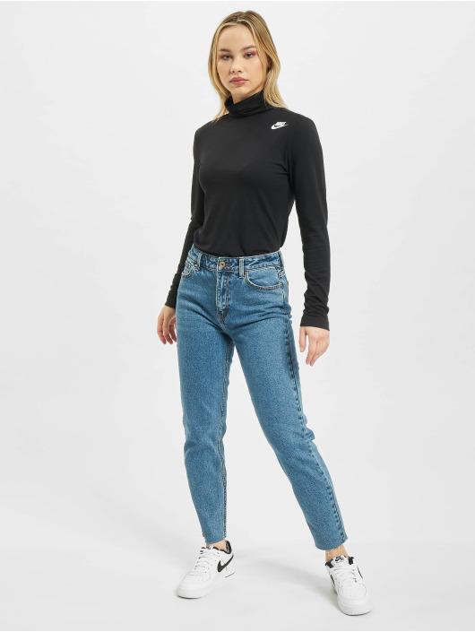 Nike T-Shirt manches longues Mock noir