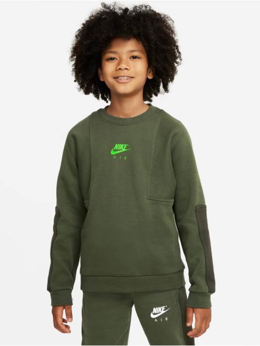Nike T-Shirt manches longues Air Crew vert