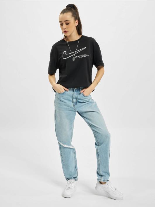 Nike T-shirt Boy Swoosh nero